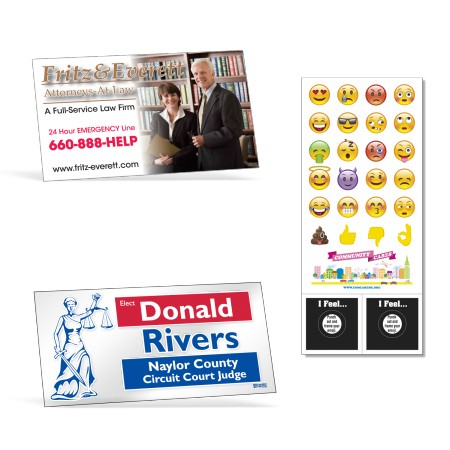 MAGNETS, DECALS, LABELS, SIGNS